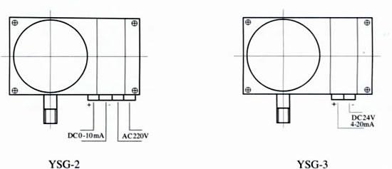 使用工作温度:-10~55 仪表执行标准:Q/320211 DGH03-2003 外形尺寸:  端子接线示意图:  使用与订货须知: 工作环境无腐蚀性气体 订货请说明名称、型号及测量范围。 本公司可根据用户需要,设计、制造特殊用途的电感压力变送器产品,欢迎来人来电、来函洽谈! 主要产品: 一般压力表;耐震压力表;全不锈钢压力表;耐震全不锈钢压力表;定位型压力表;差动远传压力表;耐震型差动远传压力表;电感压力变送器;隔膜压力表;压力继电器;耐震电接点压力表;光电耐震电接点压力表;耐震光电信号电接点压力表;