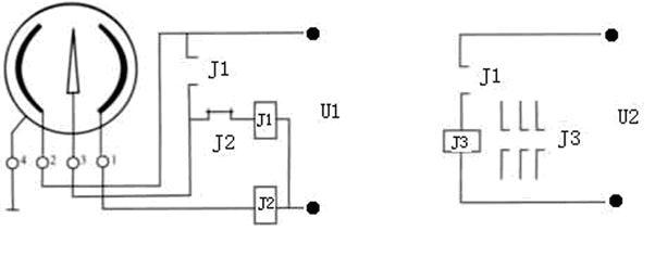轴向带边耐震电接点压力表接线示意图